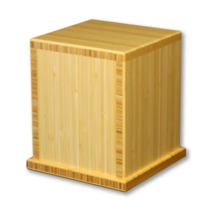 Square wooden cremation urn