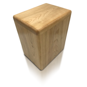 Wooden square cremation urn