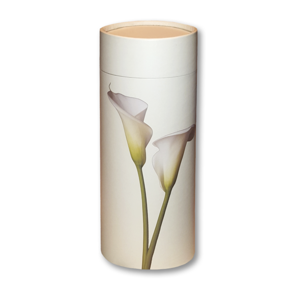 Lily cylindrical cremation urn