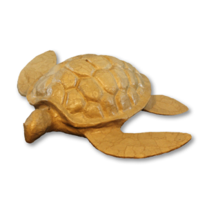 Turtle-shaped water cremation urn